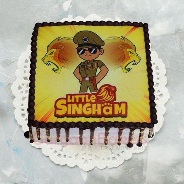 Little Singham Colourful Photo Cake