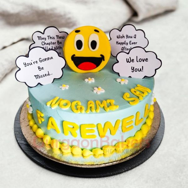 We will miss your farewell cake