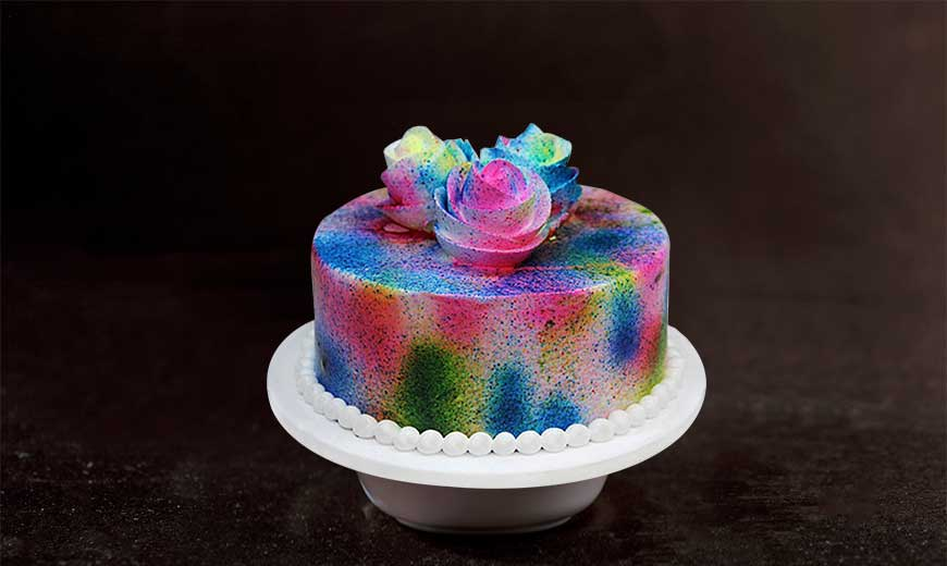 bright and bold cake colours