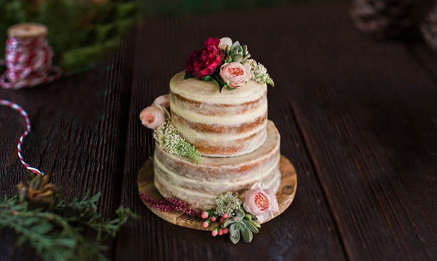 dried flowers cakes