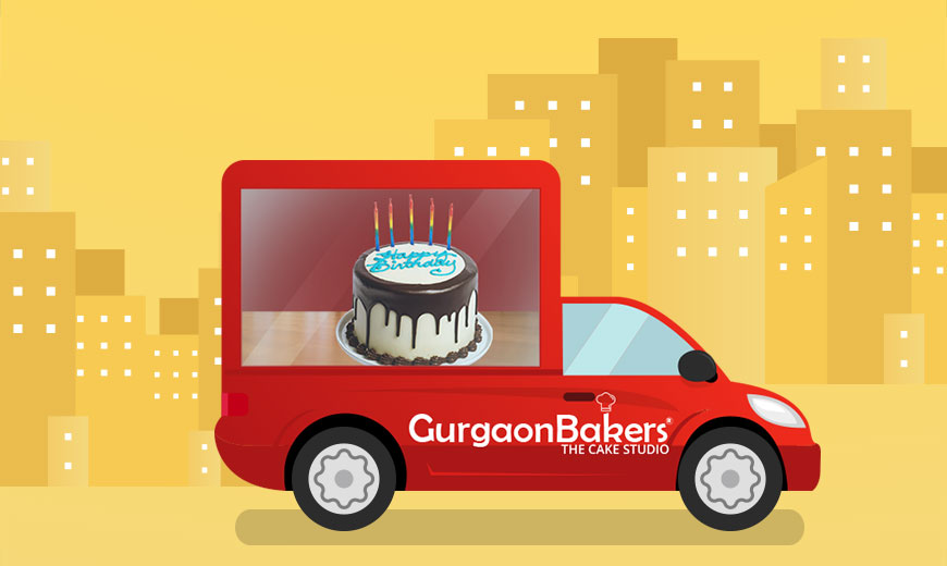 midnight cake delivery service in gurgaon india