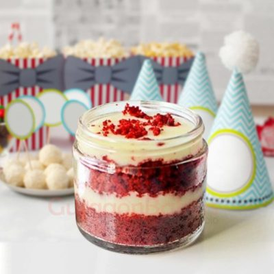 Red Velvet Cream Cheese Jar Cake
