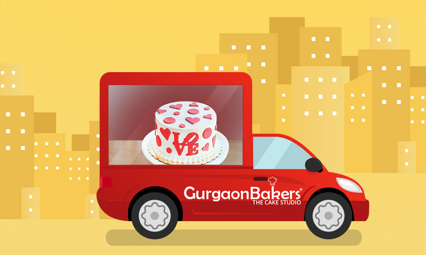 Same day Valentines Day Cake Delivery in Gurgaon