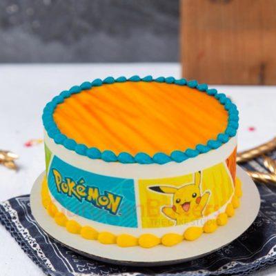 Classic Pikachu Cake