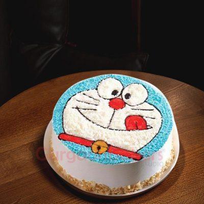 Cream Doremon Cake
