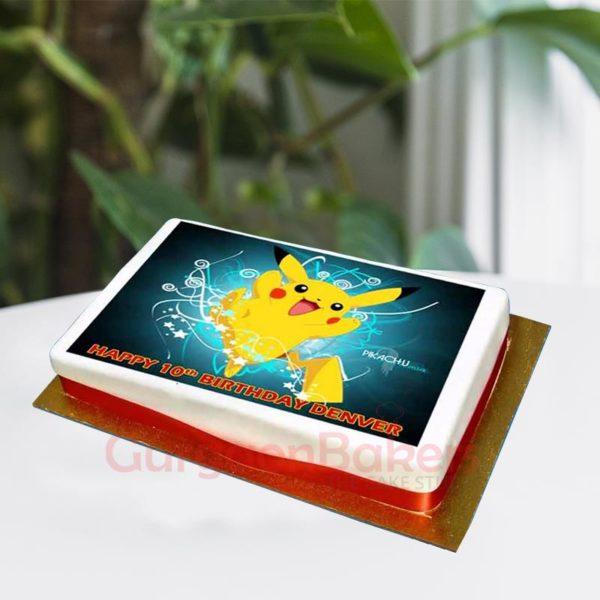 Pikachu photo cake