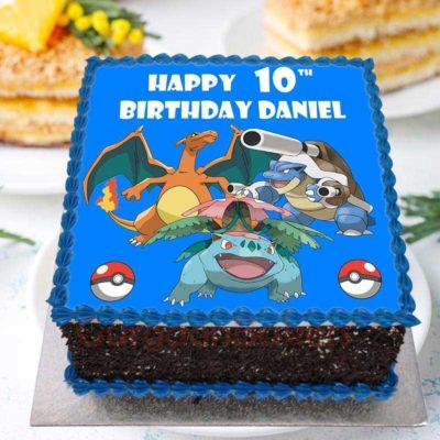 Pokemon Characters Cake