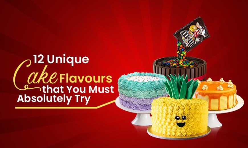 unique flavor cake