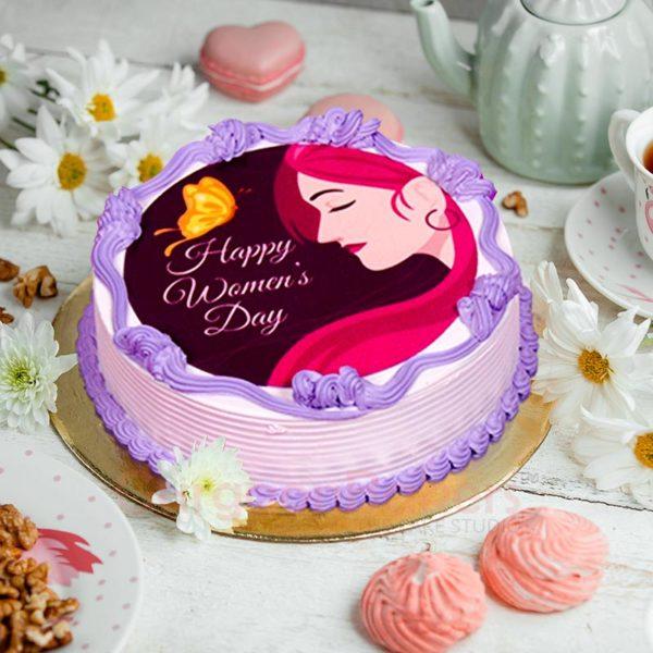 beautiful and powerful womens day cake 1