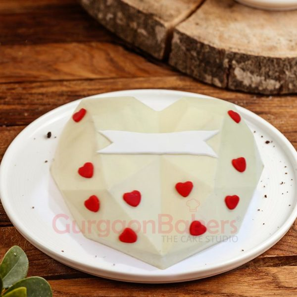 Romantic White Chocolate Pinata Cake