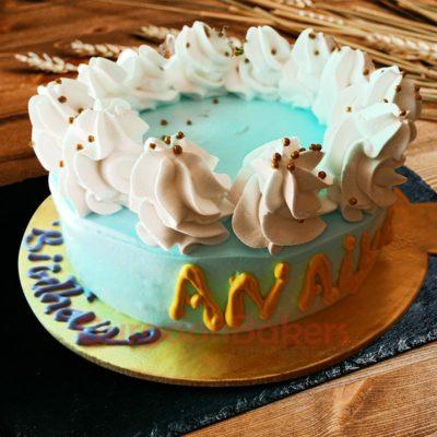 Blue Diamond Cake