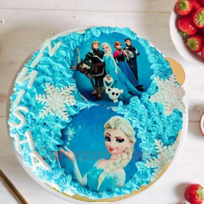 Frozen Characters Cake