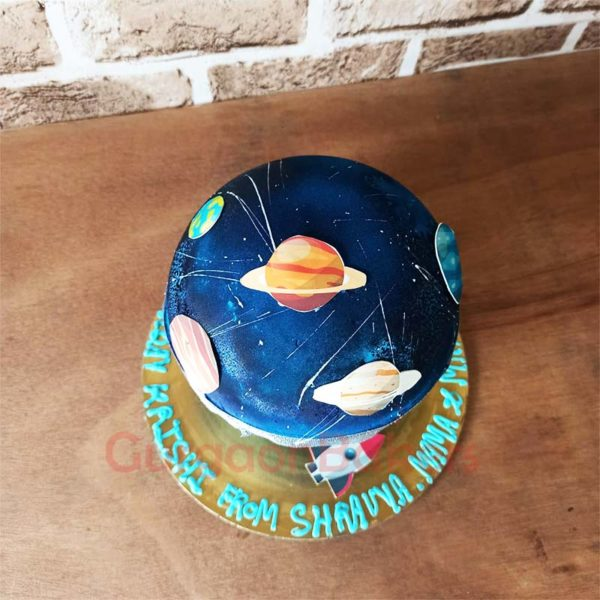 Marvellous Galaxy Pinata Cake