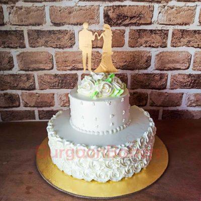 White Beauty Wedding Cake