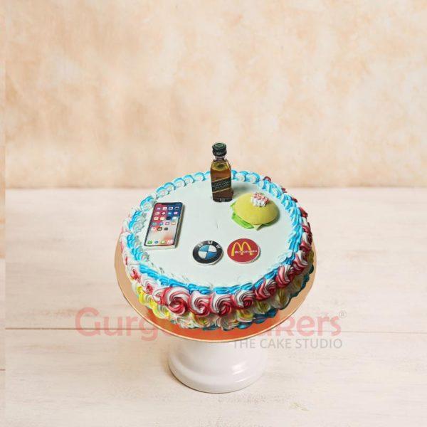 Burger and Booze Cake