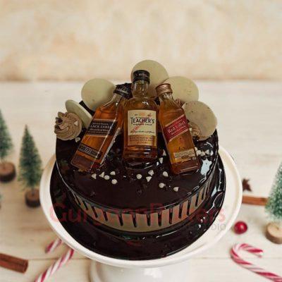 Chocolatey Booze Wooze Cake