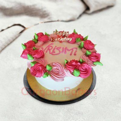 Dreamy Pink Rose Cake