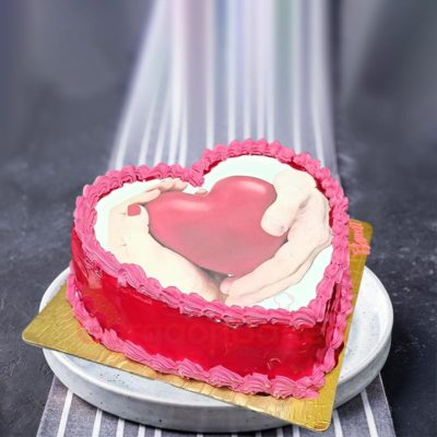 Express your Love Heart Cake