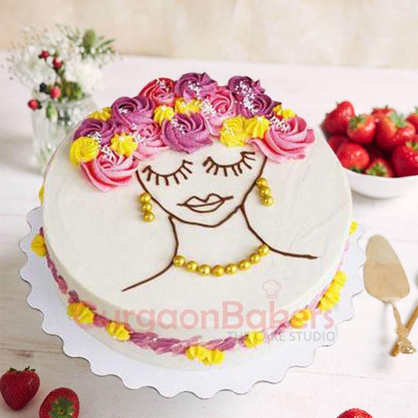 Floral Damsel Cake