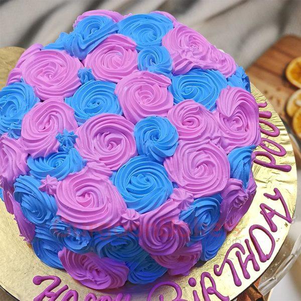 Floral Flush Buttercream Cake