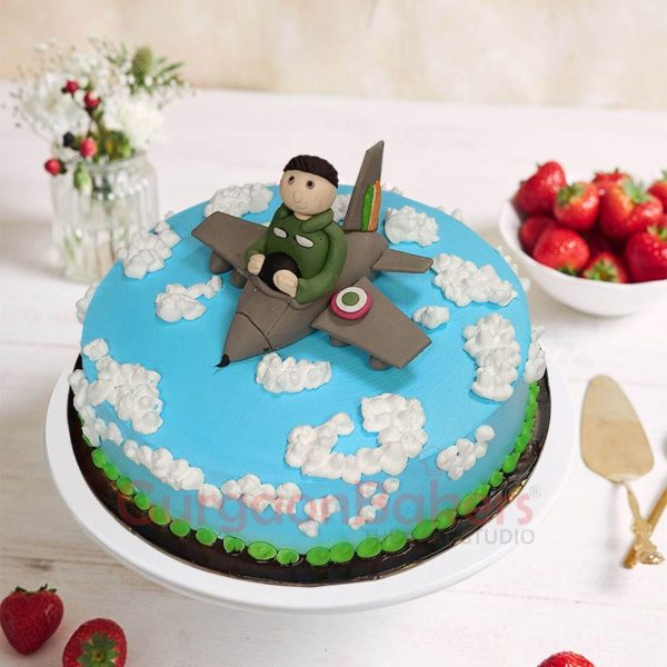 Flying High Above the Clouds Cake