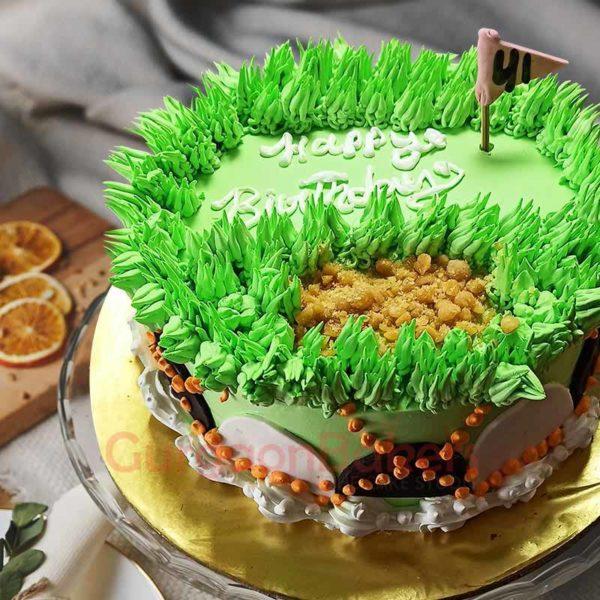 Gorgeous Golf Course Cake