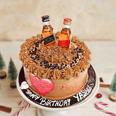 Red, Black Label Cake