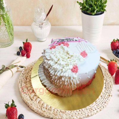 Ruffles and Flowers Bridal Shower Cake