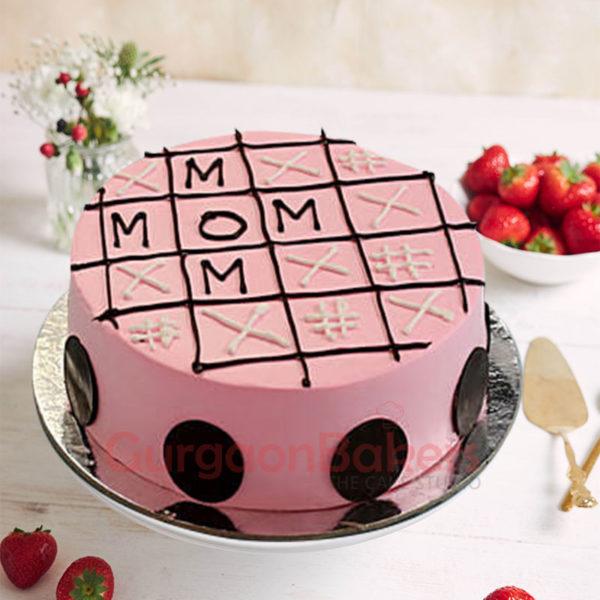 Tic-Tac-Toe Mom Cake