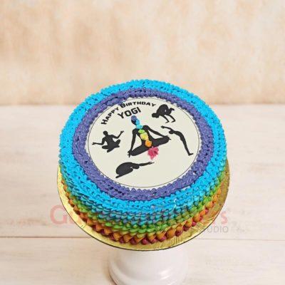 Yoga Asanas Cake