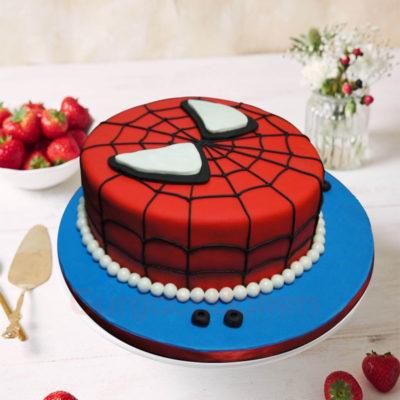 2D Spiderman Birthday Cake