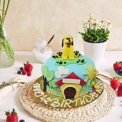 Adorable Puppy House Cake
