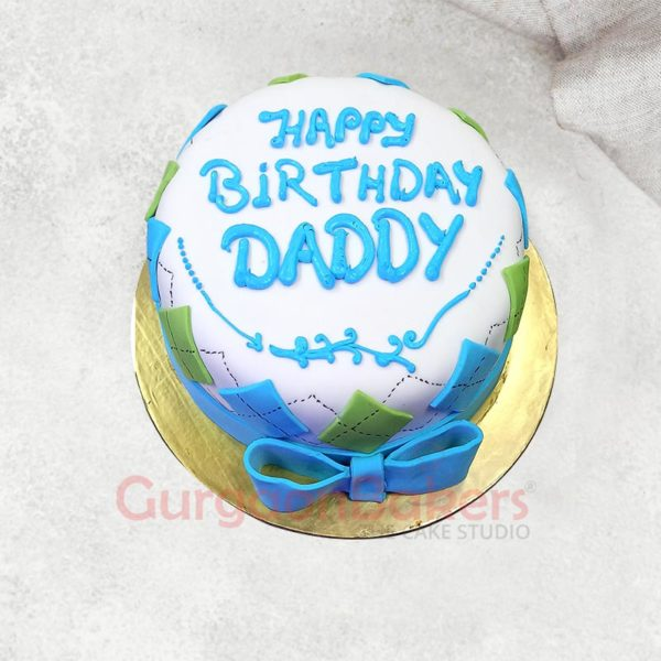 Awesome Dad Cake Top View