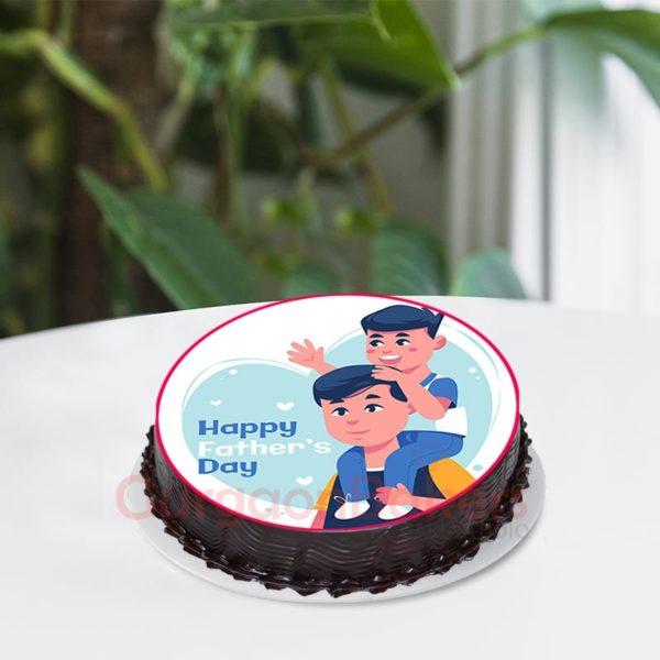 Father's Day Chocolate Photo Cake