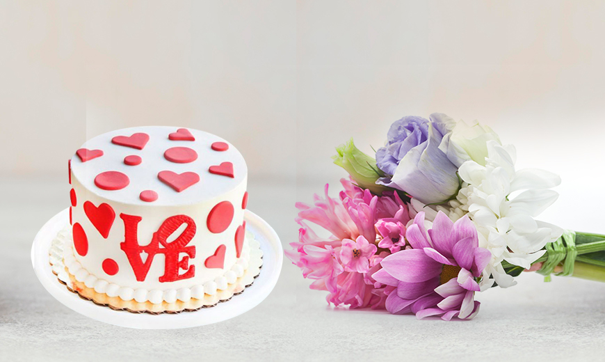 flower cake combo for a first date 2