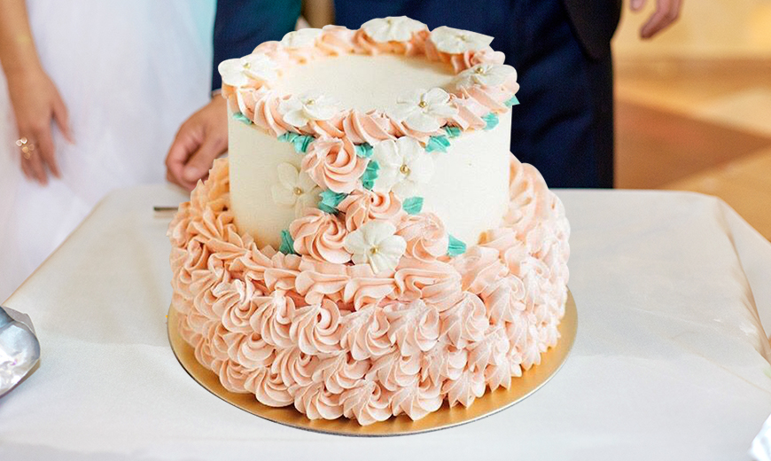 flower cake combos as a wedding gift