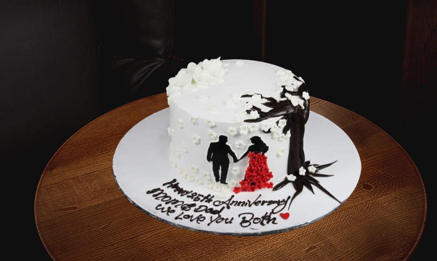 flower cake combos for wedding anniversaries 1