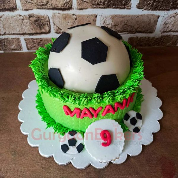 Football Pinata Cake Side View