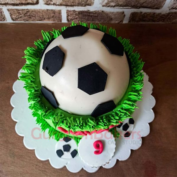 Football Pinata Cake Top View