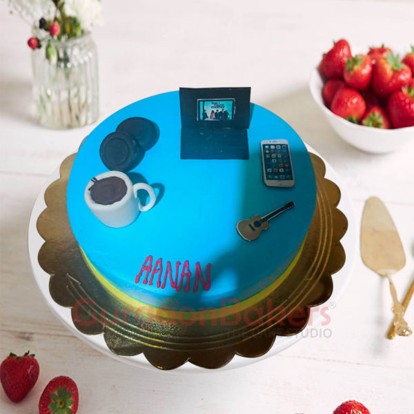 Gadget Lovers Cake Top View