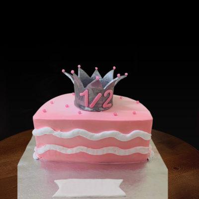 Half Birthday Princess Cake