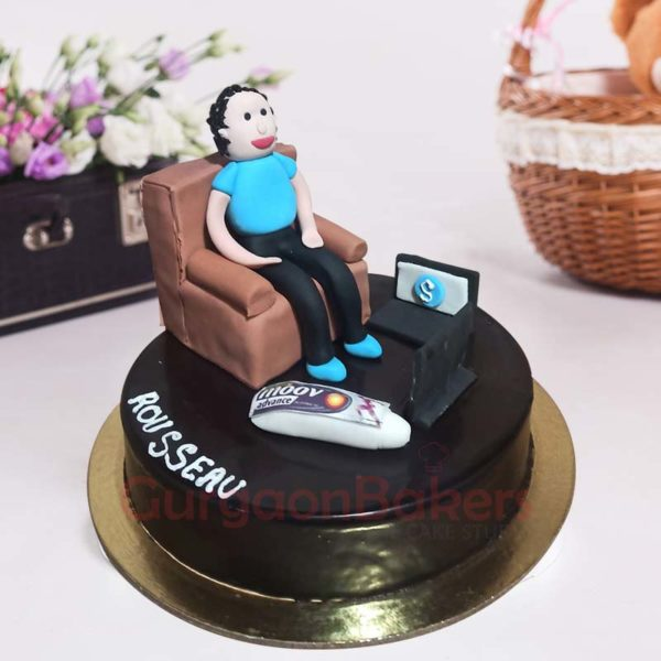 Lazy Dad Cake Side View