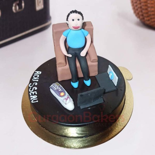 Lazy Dad Cake Front View