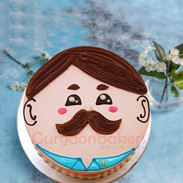 Macho Man Father's Day Cake