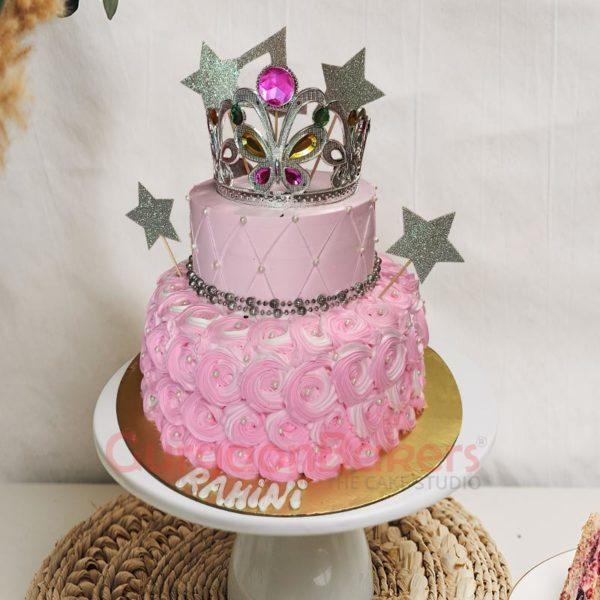 Pinkalicious Ballerina Two-tier Cake