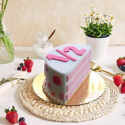 Pinky Pie Polka Half Birthday Cake