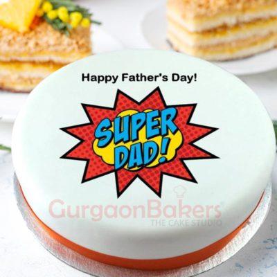 Superhero Dad Cake