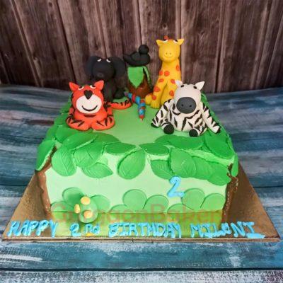 Animals Paradise Cake