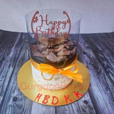 Chocolate Fountain Pull-up Cake