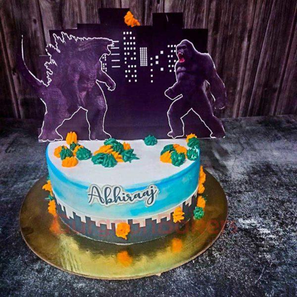Godzilla Vs King Kong Showdown Cake